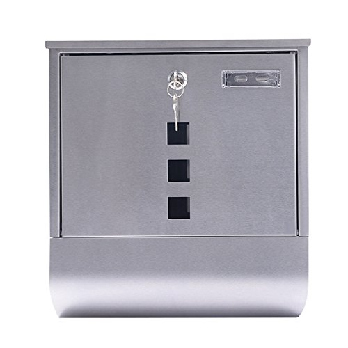 Wall Mount Mail Box Steel w/ Retrieval Door & 2 Keys & Newspaper Roll - Irvine Target