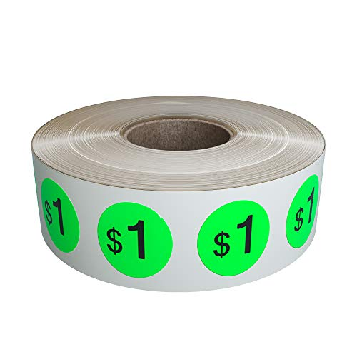 Green Royal Estate (Preprinted Pricing Labels 19mm in Neon Green - Price Stickers Labels in a roll $1.00 Pack of by Royal Green - 1040 Pack)