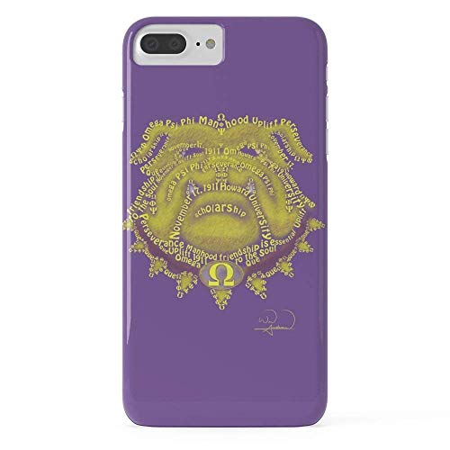 Phone Case Protective Design Hard Back Case Omega Psi Phi Slim Shockproof Bumper Case Hard PC Material Cover Compatible with Compatible with iPhone 8 Plus (Omega Bumper)