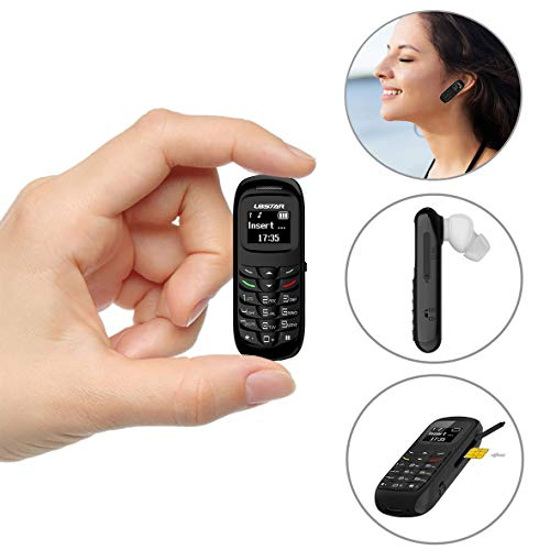 L8star BM70 Mini Mobile Phones Bluetooth Handset Phone Support Nano SIM Card 0.66inch(Black) by L8star