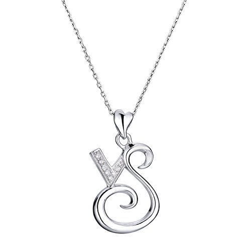 VIKI LYNN Capricorn Pendant Necklace 925 Sterling Silver Zodiac Sign Constellation Horoscope Necklace with Cubic Zirconia
