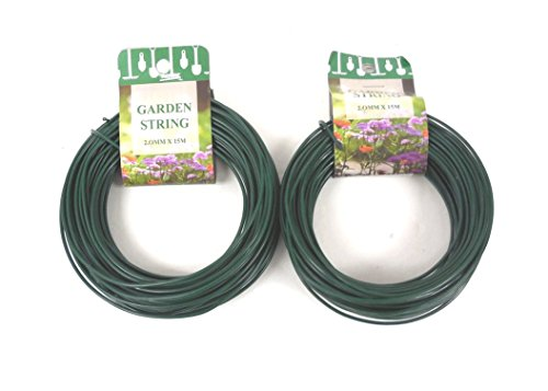 THE UM24 100 Feet Garden Wire Heavy Duty Green Coated Plant Twist Tie Garden Training ()