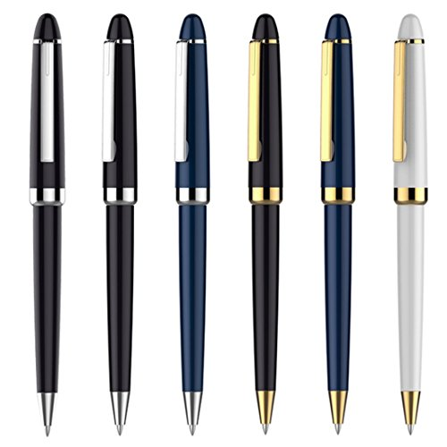 Ballpoint pen Classic Black Executive Pens with Black refill, 6PACK (Assorted color) Ballpoint Executive Pen