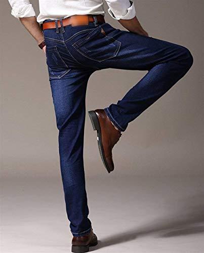 Estilo In Casual Uomo Dunkelblau Jeans Vintage Stretch Comodi Slim Da 88 Pantaloni Bobo Denim Especial SwvqFF