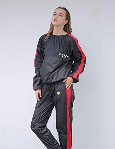 DNRZY F.I.T Fitness Sweat Sauna Suits for Men and Women Weight Loss Anti-Rip Sport Workout Suits Running Slimming Sauna Suit for Lose Weight Fat Burner Sweat Workout Clothes Durable Long Sleeves (Best Sauna Suit To Lose Weight)