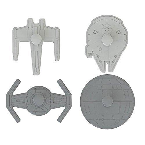 Star Wars 4 Schiffe Lakeland Ausstechformen, Stempel &Kunststoff