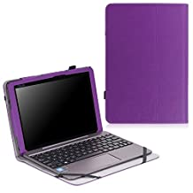 MoKo ASUS Transformer Book T100HA Case - Slim Folding Keyboard Portfolio Cover Case for ASUS Transformer Book T100HA Windows 10 2-in-1 Laptop (Not Fit for T100 Chi), PURPLE