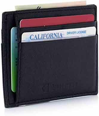 Alpine Swiss RFID Mens Thin Minimalist ID Card Case Slim Front Pocket Wallets 5 Top Variations
