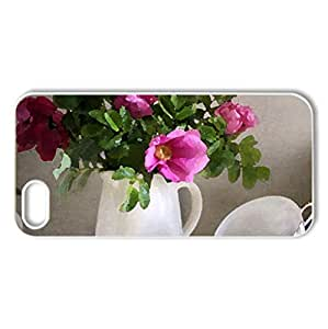 Still life - Case Cover for iPhone 5 and 5S (Flowers Series, Watercolor style, White)