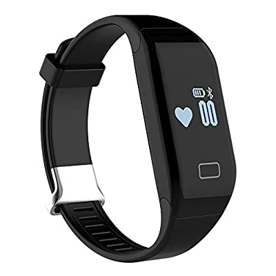 KOBWA Fitness Tracker with Heart Rate Monitor Activity Watch Step Walking Sleep Counter Wireless Wristband Pedometer Exercise Tracking Sweatproof Sports Bracelet for Android and IOS