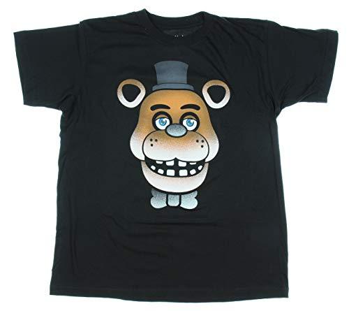 Five Nights at Freddy's Freddy Fazbear Glow-in-The-Dark Face T-Shirt