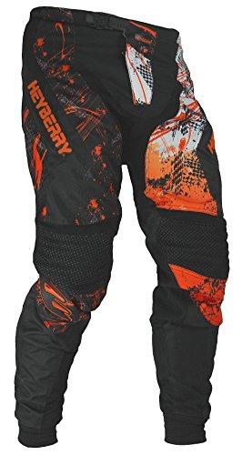 HEYBERRY Motocross Enduro Quad Hose schwarz orange Gr. L