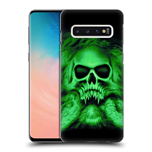 Official Rainer Kalwitz Trinity Green Skulls Hard Back Case Compatible for Samsung Galaxy S10