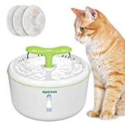 #LightningDeal EPICKA Sprout Pet Fountain, 2L/67oz Cat Water Fountain with LED Indicator, Quiet Pump and 3 Triple-Action Filters, BPA-Free Automatic Dog Water Dispenser (Green)