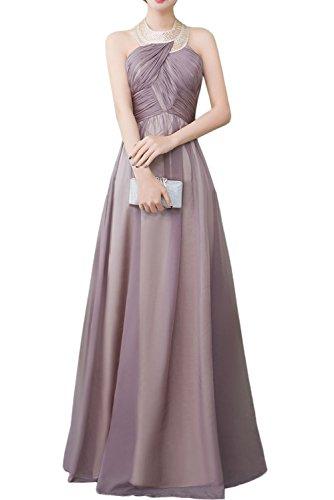 Promkleider Partykleider Damen Schnuerung Ivydressing Abendkleider Ballkleider Chiffon Klassisch Bodenlang Armlos mit q7xfxwXB