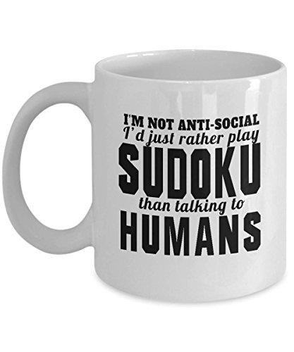 GANTEE - Sudoku, Sudoku Mug, Sudoku Gift, Sudoku Puzzles, Sudoku Coffee Cup, Sudoku Puzzle, Gift For Women, Gift For Men, Coffee Mug,Funny Coffee Mug MUG 11oz