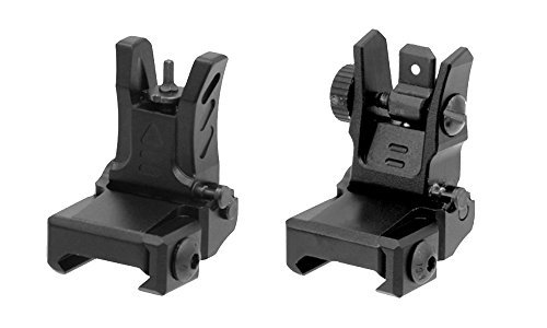 M 4 Super Low-Profile Flip-up Metal Front and Rear Sight - Metal Rear Sight