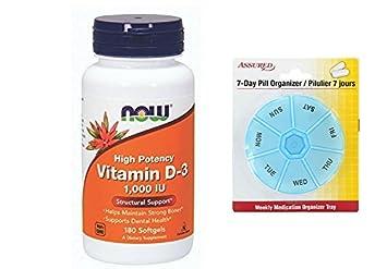 Amazon.com: AHORA la vitamina D-3 1.000 UI, 180 cápsulas ...