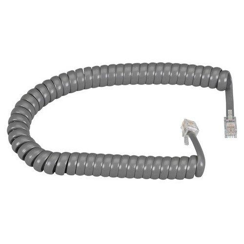 HANDSET CORD, DARK GRAY 6 FT. - 6' Gray Handset Cord
