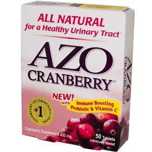 Onglets Cranberry AZO, 50 ct