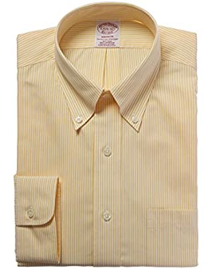 Mens Madison Fit Dress Shirt, 18 36/37, Yellow