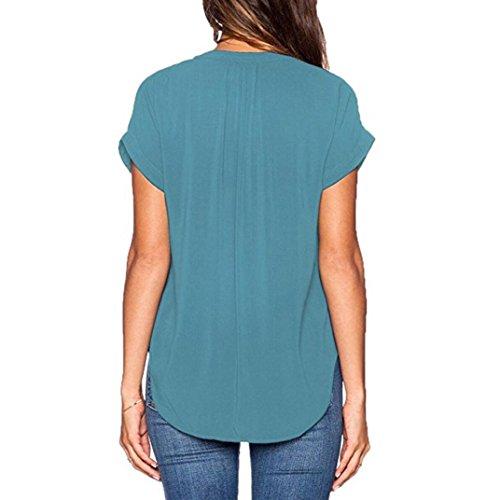 Shirt155 Ballerine Multicolore Damen Multicolore Bekleidung Donna SANFASHION XXL Blau SANFASHION 0nqtacI