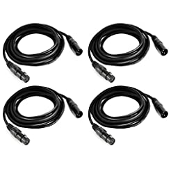 10.2ft Flexible DMX Cable, MFL 3 Pin Sig...