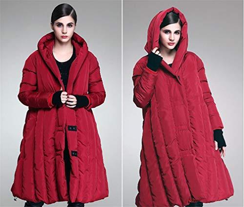 Invierno Cubren Pato La z Mujeres Red Manto Se Blanco Acolchado América Y Las Abajo Chaqueta Europa Capa Largo De Elegence Capucha Medio Cubren TwvqI0T