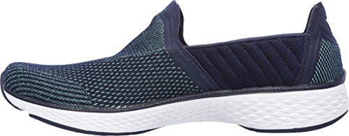 Skechers Gowalk de las mujeres deporte Rush Walking Slip-On Azul