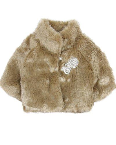 Biscotti Girls' Grand Entrance Faux Fur Jacket, Sizes 4-16 - 10