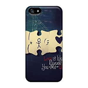 Jeffrehing Premium Protective Hard Case For Iphone 5/5s- Nice Design - Love Is Puzzle