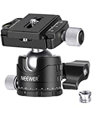 Neewer Professional 28MM Low-Profile Tripod Ball Head 360 Degree Panoramic Rotating with 2 Lock knobs, 1/4 inch QR Plate and Bubble Level for DSLR Cameras Tripods Monopods Slider, Max Load 22lbs/10kg