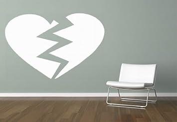 Pared Adhesivo – Color Corazón roto, Weiss, ca. 80,44 x 53,09cm ...