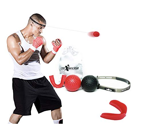 EZExercise Reflex Training - Boxing Training Equipment with a Reflex Ball and a Workout Headband no Need for a Punching Bag. Best Reflex Training Equipment for Hand Eye Coordination Training.