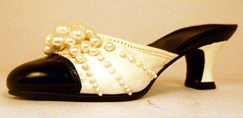 Pearl Mule (#25010) Just The Right Shoe, Collectible Miniature Shoe by Raine