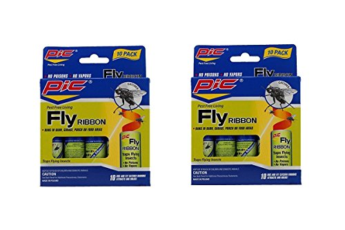 Fly Sticky (Pic FR10B Sticky Fly Ribbons, 20-pack)