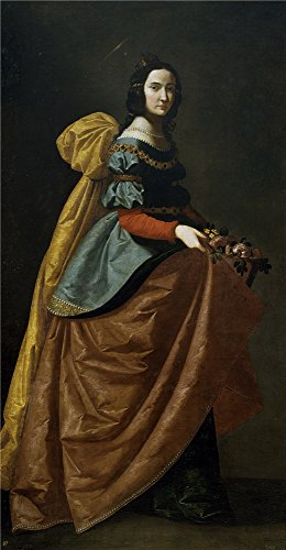 Oil Painting 'Zurbaran Francisco De Santa Isabel De Portugal Ca. 1635' 10 x 19 inch / 25 x 49 cm , on High Definition HD canvas prints is for Gifts - Frames Clip Euro