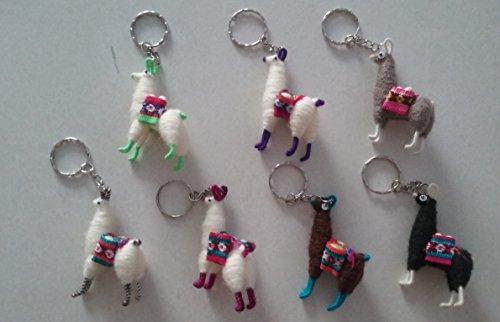 Set of 2- Llama- key chain-Cuzco- Peru -Andean- Miniature- handmade