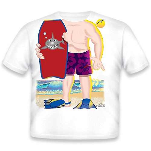 Just Add A Kid Little Boys' Boogie Board T-Shirt 4T White