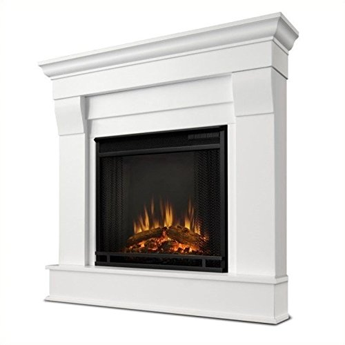 - Real Flame 5950E Chateau Corner Electric Fireplace, Small, White