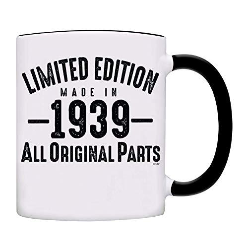 Mug 1939-80th Birthday Gifts Limited Edition Made In 1939 All Original Parts Coffee Mug-1939-0069-Black -