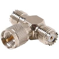 Mini UHF Tee Adapter Jack to Plug to Jack - 10 Pack