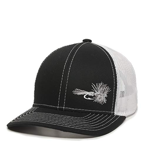 - Fish Lure Trucker Hat - Adjustable Baseball Cap w/Plastic Snapback Closure