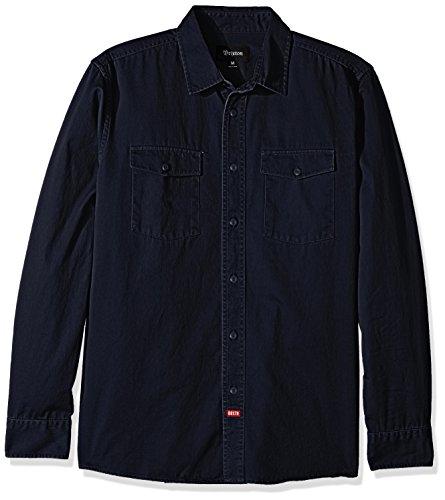 [해외]브릭 스톤 남성 올슨 편안한 긴 소매 짠 셔츠/Brixton Men`s Olson Relaxed Fit Long Sleeve Woven Shirt