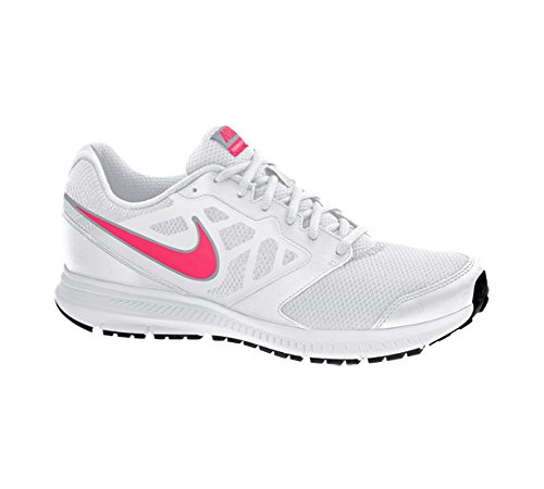 Nike Womens Downshifter 6 White Pink Synthetic Trainers 40.5 EU