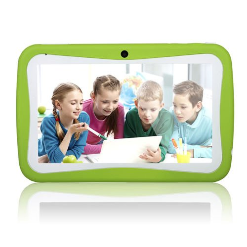 Kids Desktop - Wopad 7inch Kids Tablet Google Android 4.4 Quad Core Multi-Touch Screen 8GB Hard Drive Pre-Installed Games and Apps, Google Play Store, Kids Desktop etc Pink (Green)