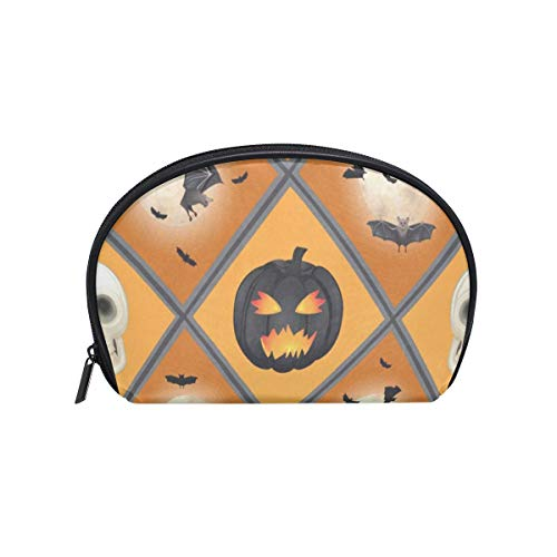 Makeup Organizer Halloween Womens Zip Toiletry Bag Large Case Cosmetic Bags