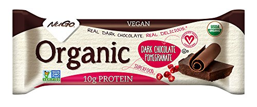 NuGo Organic Nutrition Bar, Dark Chocolate Pomegranate, 1.76-Ounce Bars (Pack of 12)