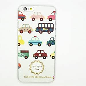 QJM Car Pattern PC Leather Back Cover Case for iPhone 6