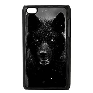Black Wolves New Fashion Case for Ipod Touch 4, Popular Black Wolves Case